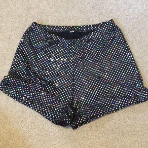 Sparkle Spandex Dance Shorts
